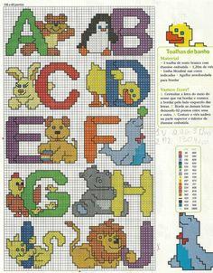 Animal Alphabet 1 Cross Stitch Pattern