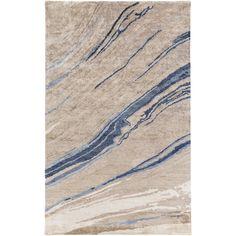 Agate Print Rug - Grey & Blue | Scenario Home
