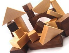 Organic, kid-friendly, natural wooden block set (I loved my block set back in the day!): 30 pieces = $54