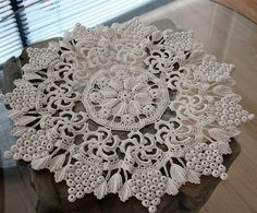 Ideas For Crochet Patrones Ganchillo Chalecos Freeform Crochet, Crochet Art, Crochet Home, Thread Crochet, Filet Crochet, Irish Crochet, Crochet Dollies, Crochet Doily Patterns, Crochet Motif