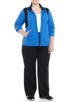 Kim Rogers Women's Plus Size Mesh Side Panel Leggings - Blue Ridge - 1X