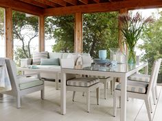 Sarah's Summer House - HGTV - Sarah Richardson - love the dining & chat spaces in the screened porch
