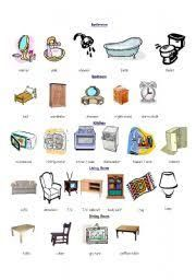 Vocabulary Matching Worksheet Home Appliances English - Italian Furniture Vocab