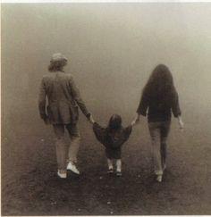 John Lennon, Yoko Ono and Sean.