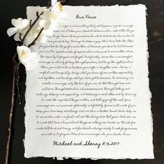 personalized wedding vows, song lyrics, or poem print on handmade cotton paper, anniversary gift, gi Marriage Cards, Good Marriage, Cotton Anniversary Gifts, Paper Anniversary, Wedding Vows, On Your Wedding Day, Handmade Wedding, Personalized Wedding, Newlywed Gifts