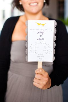 Programs that double as fans for a hot wedding day!