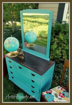 A Kid Ravaged Dresser Turned #vintage School House Style Dresser