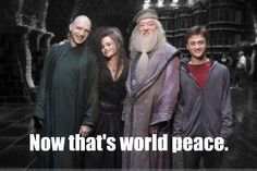 Am I the only one that was like who's that bald guy?...oh wait...it's Voldemort. He just has a nose now..hahaha