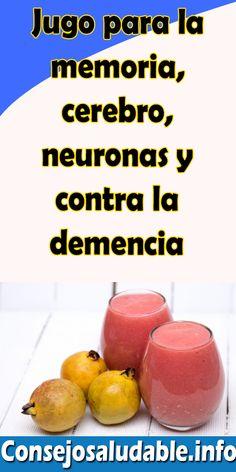 Jugo para la memoria, cerebro, neuronas y contra la demencia #remedios #consejos #salud #bienestar #