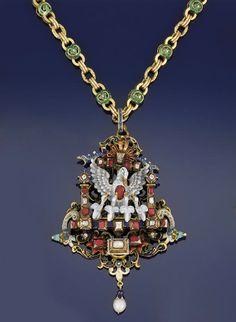 A late century Neo-Renaissance gold, diamond, gem and enamel pendant Renaissance Jewelry, Medieval Jewelry, Victorian Jewelry, Antique Jewelry, Vintage Jewelry, Victorian Era, Enamel Jewelry, Pendant Jewelry, Fine Jewelry