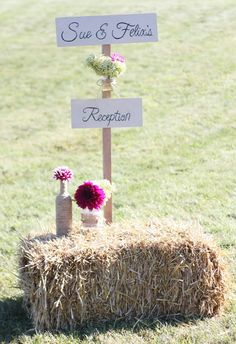 Rustic Welcome Sign for a Country Wedding Reception by Country Girl Collections