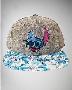 Floral Stitch Snapback Hat - Spencer s Disney Outfits f619d6824e98