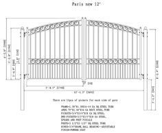 Petersburg Steel Dual Swing Driveway Gate Size: H x 1 Steel Fence Panels, Metal Fences, Iron Fences, Fencing, Gates For Sale, Swing Gate Opener, Wrought Iron Driveway Gates, Iron Gate Design, Swing And Slide