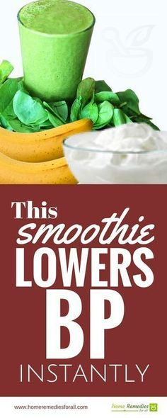 One of the best home remedies for high blood pressure is green smoothies. This particular smoothie will lower blood pressure instantly.