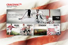 Cracovia Kraków website by Adam Łazorko, via Behance