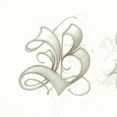 ✍ Sensual Calligraphy Scripts ✍ initials, typography styles and calligraphic art - B