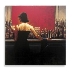 Cigar Bar woman.  I want this on my wall- and they have a match Bar man painting.