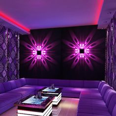 Mural Luminaire Background LED Wall Mounted Projection Colorful Lamp for Home Hotel KTV Bar Crystal Ceiling Light, Modern Led Ceiling Lights, Modern Light Fixtures, Wall Lights, Porch Wall Decor, Acrylic Chandelier, Nightclub Design, Modern Lighting Design, Stage Lighting Design