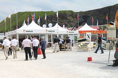 Marquees at the Hillhead Quarry Exhibition