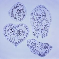 DISNEY tattoo design, sketches, artwork and tattoo art BY AMY TENENBAUM amytenenbaumtattoos@gmail.com