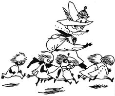 Snufkin, Little My, Moomin, Tove Jansson Break rules Moomin Valley, Tove Jansson, Illustrations, Book Illustration, Finland, In This World, Childrens Books, Literature, Artsy