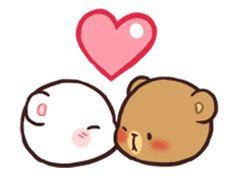 Cute Cartoon Pictures, Cartoon Profile Pics, Cute Love Cartoons, Cute Anime Pics, Calin Gif, Gif Mignon, Cute Bear Drawings, Cute Kawaii Animals, Cute Love Gif