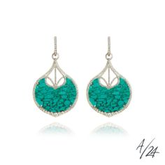 Annoushka Cloud Nine Large Earrings, £5,900. Created in 18ct white gold and turquoise, and hand set in graduated pavé diamond frames, limited edition Cloud Nine earrings. The earring drops are detachable. Part of the Annoushka/24 collections, the Cloud Nine Earrings show exquisite craftsmanship and beautiful design. Annoushka/24 are limited edition collections of only 24 pieces each. Every design is engraved with the number of the piece within the edition.