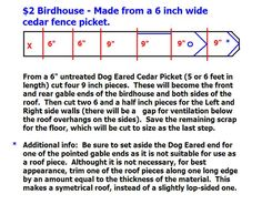 Building Birdhouses Picture of Some Plans... (I use the term loosley)