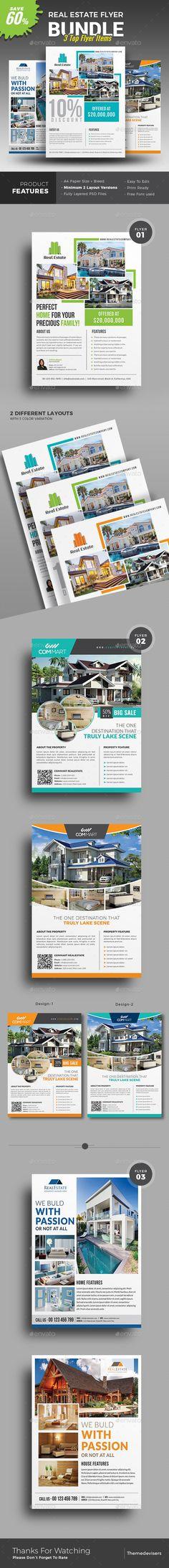 #Real #Estate #Flyer - Commerce Flyers Download here:  https://graphicriver.net/item/real-estate-flyer/19551505?ref=alena994