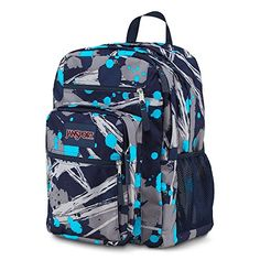 JanSport Big Student Backpack - blue splash / 17.5 - Click image twice for more info - See a larger selection of blue backpacks at http://kidsbackpackstore.com/product-category/red-backpacks/. - kids, juniors, back to school, kids fashion ideas, teens fashion ideas, school supplies, backpack, bag , teenagers girls , gift ideas, blue