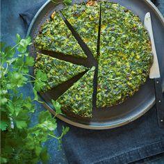 You'll go cuckoo for this striking one-pan dish inspired by a traditional Persian frittata called kuku sabzi. Kookoo Sabzi, Kuku Sabzi, Yogi Food, Healthy Frittata, Iranian Food, Iranian Cuisine, Sabzi Recipe, Vegetable Pie, Fig Recipes