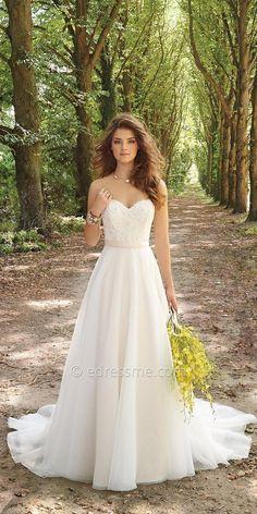 Corset Organza Wedding Dress By Camille La Vie   Deer Pearl Flowers