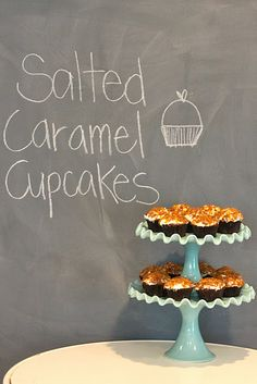 salted caramel cupcakes, the other link is dead, so a repin of a repin! :D