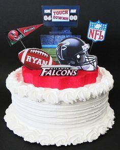 Football Cake Topper 3D Centerpiece Atlanta Falcons Birthday Decoration By DesignsByKeiko 4000