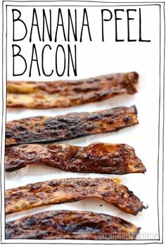 A vegan bacon recipe made from the banana peels that you would otherwise toss aw - Vegan Breakfast Recipes, Vegetarian Recipes, Cooking Recipes, Healthy Recipes, Vegan Meals, Vegan Food, Brunch Recipes, Vegan Pulled Pork, Coconut French Toast