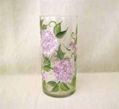 Hydrangea vase hand painted por DeannaBakale en Etsy