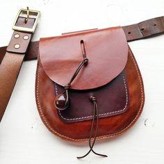 RUSBY BELT POUCH 2690 Handmade leather hip pouch, belt bag, Bohemian Fairy, Fairysteps