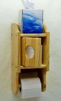 Wooden Toilet Paper Holder Spalt Maple wood by BearcatWoodworks, $62.00