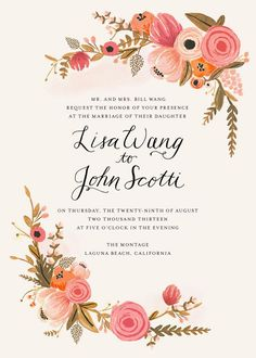 Rifle Paper Co. - wedding invitation The Luxe Pearl Prestigious Wedding Blog www.theluxepearl.com