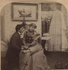 Friday 13th - The Haunted Lover - Half a Stereo Card by Photo_History, via Flickr