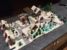 Winter/Christmas Village Scene by Russell William Burdner. From AFOLs of FB, 9/7/16