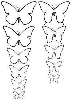 Discover thousands of images about Plantillas de mariposas para pintar en pared - Imagui Drink Can Butterflies Butterfly_Temp_All_A.jpg use pattern to enlarge if you want bigger butterflies Drink Can Butterflies: 6 Steps (with Pictures) For some time and Butterfly Template, Butterfly Crafts, Flower Template, Heart Template, Butterfly Mobile, Crown Template, Diy Butterfly Decorations, Butterfly Wall Art, How To Make Butterfly