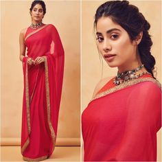 Dhadak Pair Janhvi Kapoor and Ishaan Khatter All Happy As They Win Big At DadaSaheb Phalke Awards 2019 - HungryBoo Dress Indian Style, Indian Dresses, Indian Wedding Outfits, Indian Outfits, Wedding Dresses, Indian Attire, Indian Wear, Boho Outfits, Fashion Outfits