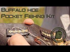 Buffalo Hide Pocket Fishing Kit - YouTube Fishing Kit, Leather Pattern, Bushcraft, Buffalo, Boats, Pocket, Patterns, Youtube, Block Prints