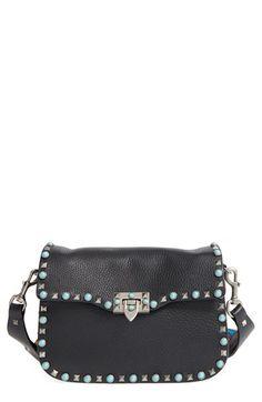 VALENTINO 'Rockstud Rolling' Leather Shoulder Bag. #valentino #bags #shoulder bags #leather