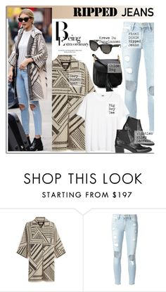 """""""Ripped Jeans: Gigi Hadid"""" by junglover ❤ liked on Polyvore featuring мода, Tory Burch, Frame Denim, Krewe, Chloé, women's clothing, women's fashion, women, female и woman"""