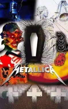 All of Metallica's album covers in one photo Metallica Tattoo, Metallica Band, Rock Posters, Concert Posters, Metallica Album Covers, Hard Rock, Heavy Metal Rock, Thrash Metal, Stuff And Thangs