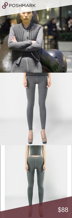 Reversible Python Grey Leggings Python leggings -this piece will last a lifetime & so will its styling capabilities. Pair w the matching top & scarf to your platforms for the hottest look this season. NYC based Designer Emily Keller puts her instinct for cutting edge fashion into these unique & hard to find, affordable pieces. Perfect for travel & light weight. Each of her items has 2 style lives as they are reversible and ready to wear! Sustainable and ethical Worldly production eliminating…
