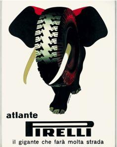 Roberto Menghi, Armando Testa, Atlante Pirelli, Il gigante che farà molta strada, Pirelli, 1955, courtesy Fondazione Pirelli