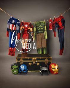 Avengers Birthday, Superhero Birthday Party, Boy Birthday, Superhero Costumes For Boys, Superhero Pictures, Boy Photo Shoot, Halloween Photography, Foto Baby, Shooting Photo